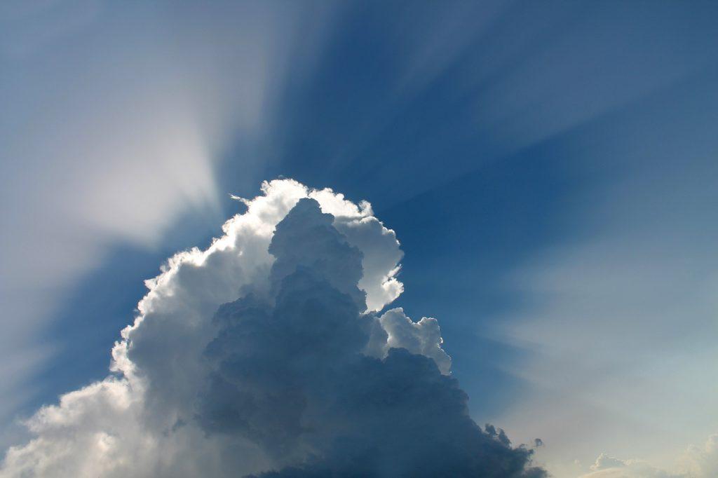 cloud, sky, blue sky